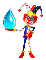 Clown with Water drop