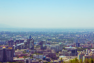Almaty city view from Koktobe hill, Kazakhstan