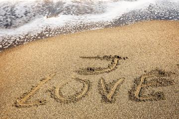 I love inscription on the sand near the sea