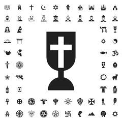 Christian cross icon illustration