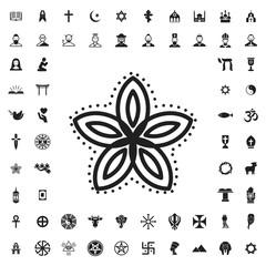 Flower icon icon illustration