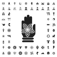 Hamsa icon illustration