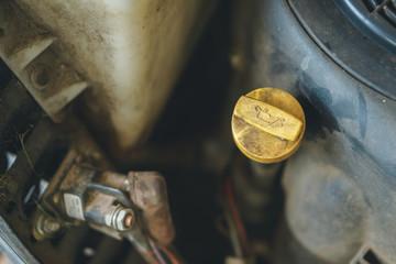 Dusty engine fuel cap