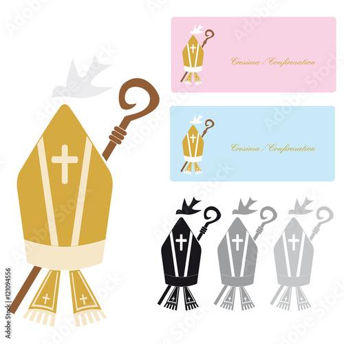 """Molto Simbolo della Religione Cristiana della Cresima """" Stock image and  DY16"""