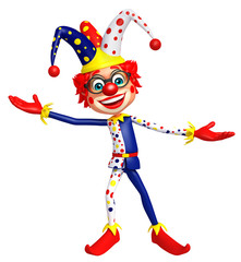 Clown with Funny pose