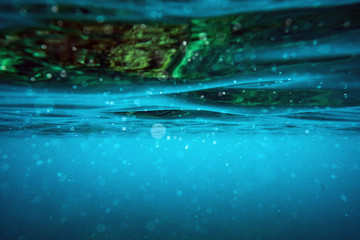 Underwater wave surface abstract background