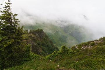 Utsikt under bestigning av Gampenkogel