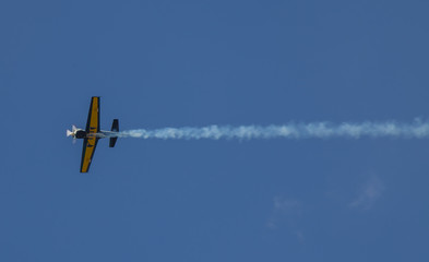 Ultralight airplane with smoke