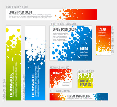 Banner templates collection with abstract background