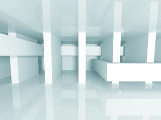 Abstract White Architecture Futuristic Background