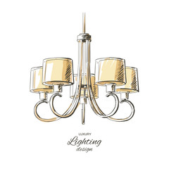 vector chandelier isolated