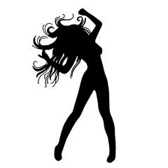 original trendy vector girl dancing