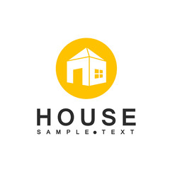 House Icon - Isolated On White Background. Vector Illustration, Graphic Design. For Web, Websites, Print Material