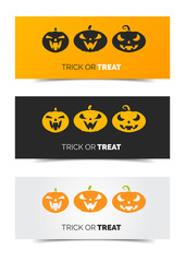 Website scary header or banner set for Halloween