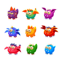 Toy Alien Monsters With And Without Wings Collection