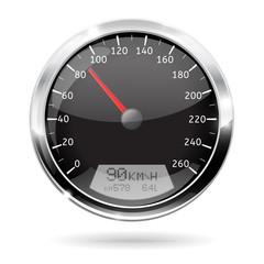 Speedometer. 90 km per hour