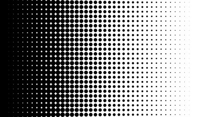Gradient background with dots Halftone dots design