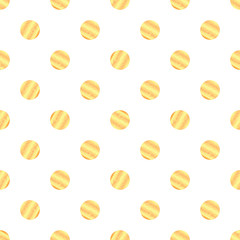 Seamless pattern with gold dots