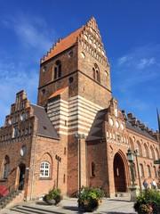 Altes Rathaus im Zentrum von Roskilde, Dänemark