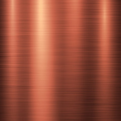Fototapete - Bronze metal technology background with polished, brushed metal texture, chrome, silver, steel, aluminum, copper for design concepts, web, prints, posters, wallpapers, interfaces. Vector illustration.