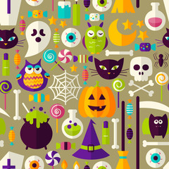 Halloween Seamless Background