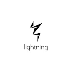 lightning logo graphic design concept