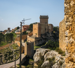 Medieval castle in Alarcon, Castilla la Mancha, Spain