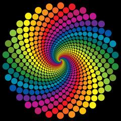 Swirly wallpaper rainbow background.