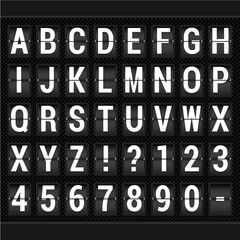 Vector scoreboard ABC.