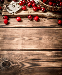 Cherry in a basket on the Board