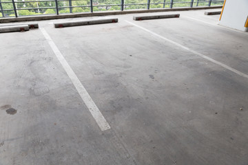 empty indoor car parking lot