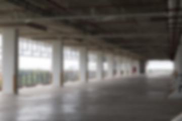 empty indoor car parking lot