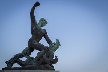 Statue in Budapest auf der Citadella