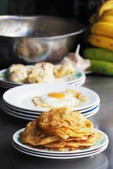 traditional roti paratha fried pancake
