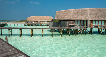 Fantastic lagoon in Maldivian island