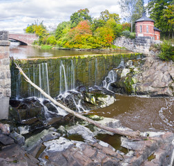 Vanhankaupunginkoski - waterfall on Vantaanjoki River in Old Tow