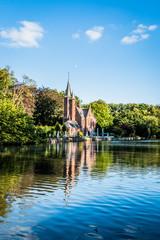 Le lac des amoureux à Bruges