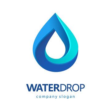 Drop of water vector logo. Clean water, Spa