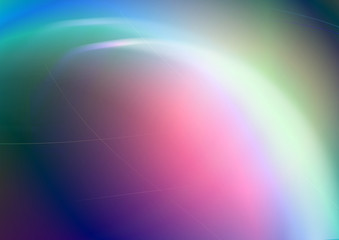 Bright rainbow convex background with back lit and shining curves