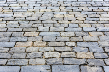Stone pavement texture - Moscow. Red Square.