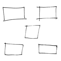 Doodle Square and sketching, vector illustration