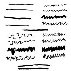 Doodle line,sketching and Marker pen.Vector illustration