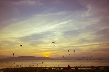 Kitesurf en el Delta del Ebro