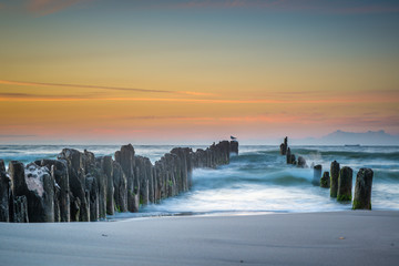 Sea sunset in Poland