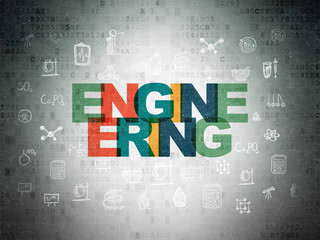 Science concept: Engineering on Digital Data Paper background
