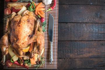 Juicy roasted turkey