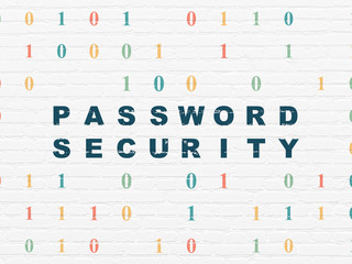 Safety concept: Password Security on wall background