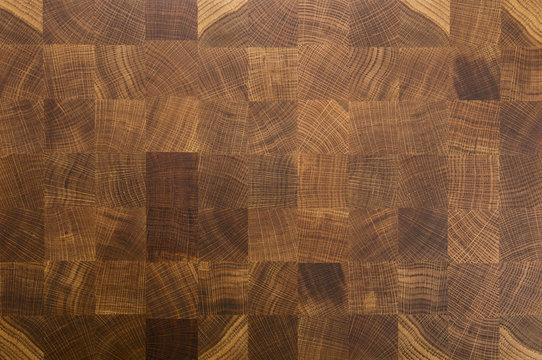 Oak wood butcher's end grain chopping block board