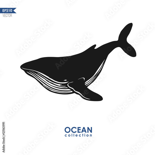 """""""vector humpback whale"""" Stock image and royalty-free ..."""