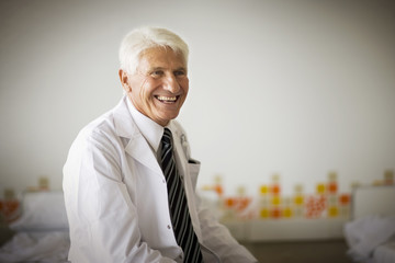 Portrait of a doctor smiling.